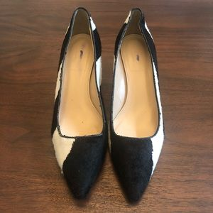 J. Crew Collection Cowhide Heels Size 9.5
